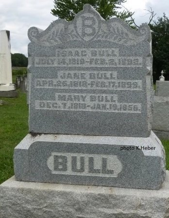 BULL, JANE - Champaign County, Ohio | JANE BULL - Ohio Gravestone Photos