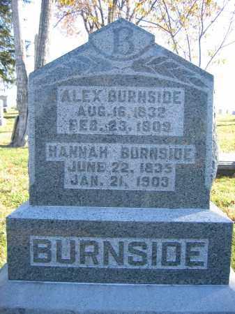 BURNSIDE, HANNAH - Champaign County, Ohio | HANNAH BURNSIDE - Ohio Gravestone Photos