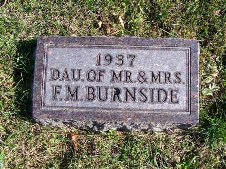 BURNSIDE, INFANT DAUGHTER - Champaign County, Ohio | INFANT DAUGHTER BURNSIDE - Ohio Gravestone Photos