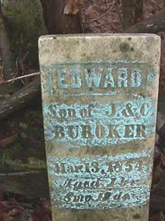 BUROKER, EDWARD - Champaign County, Ohio   EDWARD BUROKER - Ohio Gravestone Photos