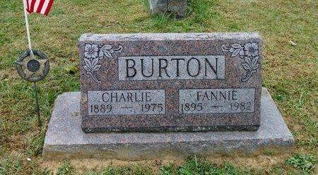 BURTON, FANNIE - Champaign County, Ohio | FANNIE BURTON - Ohio Gravestone Photos