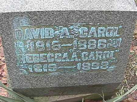 CAROL, DAVID A. - Champaign County, Ohio | DAVID A. CAROL - Ohio Gravestone Photos