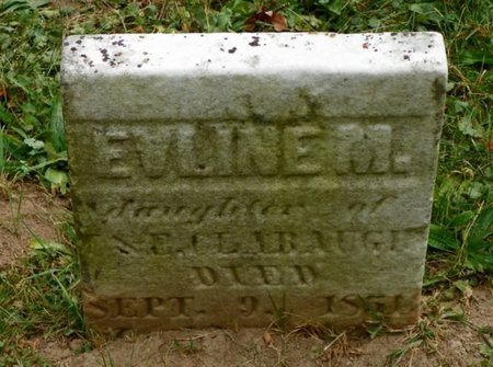 CLABAUGH, EVLINE M. - Champaign County, Ohio | EVLINE M. CLABAUGH - Ohio Gravestone Photos