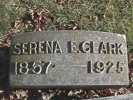 SPEECE CLARK, SERENA ELIZABETH - Champaign County, Ohio | SERENA ELIZABETH SPEECE CLARK - Ohio Gravestone Photos