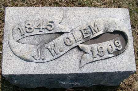CLEM, JOSEPH WILLIAM - Champaign County, Ohio | JOSEPH WILLIAM CLEM - Ohio Gravestone Photos