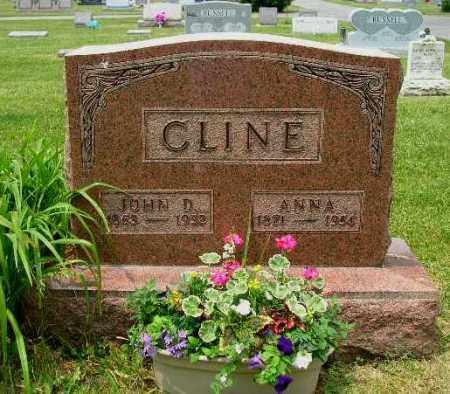 ROMINE CLINE, ANNA - Champaign County, Ohio | ANNA ROMINE CLINE - Ohio Gravestone Photos