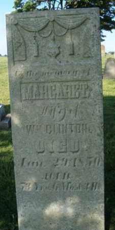 CLINTON, MARGARET - Champaign County, Ohio | MARGARET CLINTON - Ohio Gravestone Photos