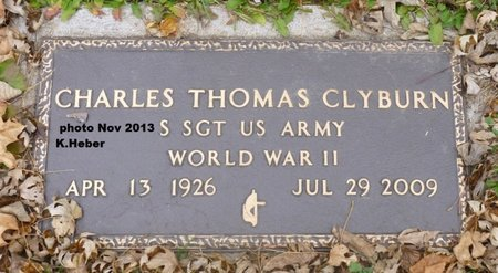 CLYBURN, CHARLES THOMAS - Champaign County, Ohio | CHARLES THOMAS CLYBURN - Ohio Gravestone Photos