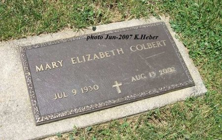 COLBERT, MARY ELIZABETH - Champaign County, Ohio | MARY ELIZABETH COLBERT - Ohio Gravestone Photos