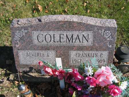 COLEMAN, FRANKLIN P. - Champaign County, Ohio | FRANKLIN P. COLEMAN - Ohio Gravestone Photos
