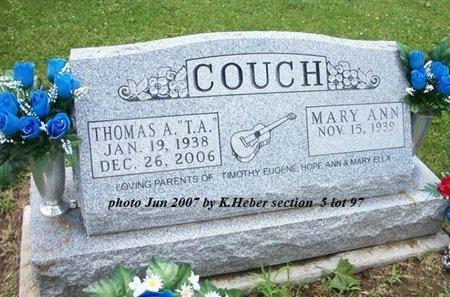 COUCH, THOMAS A - Champaign County, Ohio   THOMAS A COUCH - Ohio Gravestone Photos