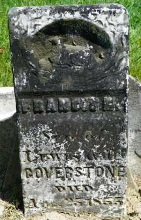 COVERSTONE, FRANCIS M. - Champaign County, Ohio   FRANCIS M. COVERSTONE - Ohio Gravestone Photos
