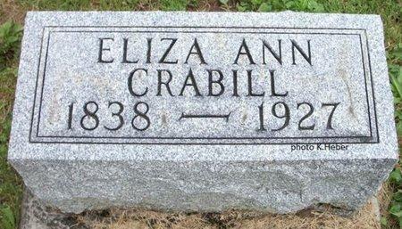 CRABILL, ELIZA ANN - Champaign County, Ohio | ELIZA ANN CRABILL - Ohio Gravestone Photos