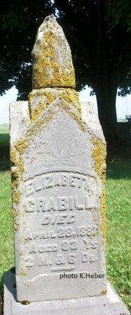 CRABILL, ELIZABETH - Champaign County, Ohio | ELIZABETH CRABILL - Ohio Gravestone Photos