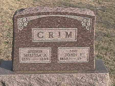 CRIM, JOHN F. - Champaign County, Ohio | JOHN F. CRIM - Ohio Gravestone Photos