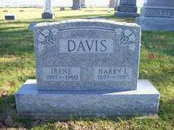 DAVIS, IRENE - Champaign County, Ohio   IRENE DAVIS - Ohio Gravestone Photos