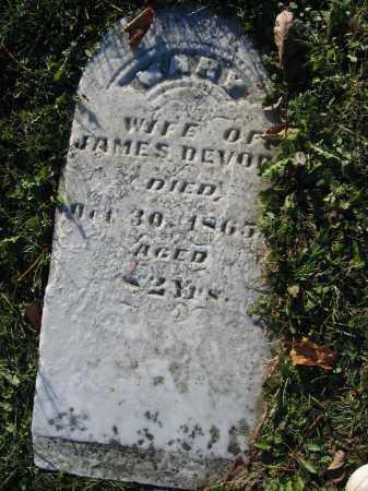 DEVOR, MARY - Champaign County, Ohio | MARY DEVOR - Ohio Gravestone Photos