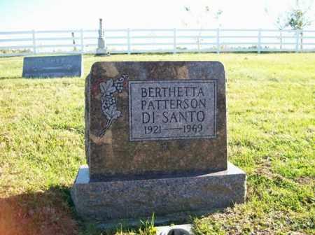 DI SANTO, BERTHETTA PATTERSON - Champaign County, Ohio | BERTHETTA PATTERSON DI SANTO - Ohio Gravestone Photos
