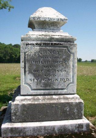 DICK, NANCY - Champaign County, Ohio | NANCY DICK - Ohio Gravestone Photos
