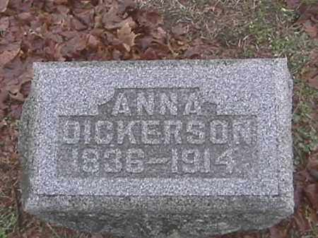 DICKERSON, ANNA - Champaign County, Ohio | ANNA DICKERSON - Ohio Gravestone Photos