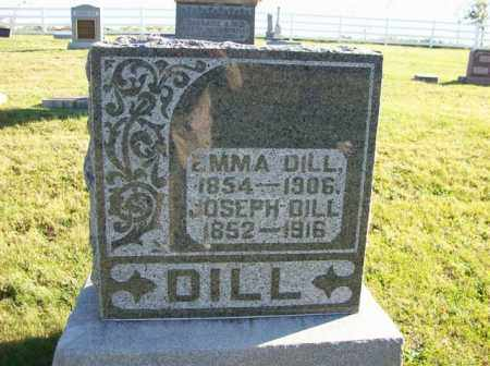 DILL, EMMA - Champaign County, Ohio   EMMA DILL - Ohio Gravestone Photos