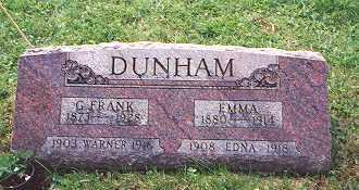 DUNHAM, WARNER DELPHORD - Champaign County, Ohio | WARNER DELPHORD DUNHAM - Ohio Gravestone Photos