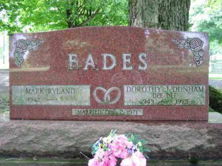DUNHAM EADES, DOROTHY J. DEEDEE - Champaign County, Ohio | DOROTHY J. DEEDEE DUNHAM EADES - Ohio Gravestone Photos