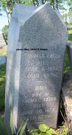 EATON, MARY - Champaign County, Ohio | MARY EATON - Ohio Gravestone Photos