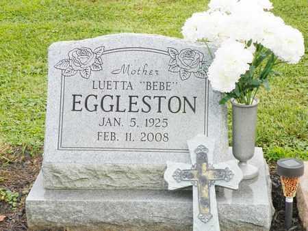 EGGLESTON, LUETTA - Champaign County, Ohio   LUETTA EGGLESTON - Ohio Gravestone Photos