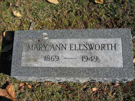 ELLSWORTH, MARY ANN - Champaign County, Ohio | MARY ANN ELLSWORTH - Ohio Gravestone Photos