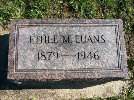 EUANS, ETHEL M. - Champaign County, Ohio | ETHEL M. EUANS - Ohio Gravestone Photos