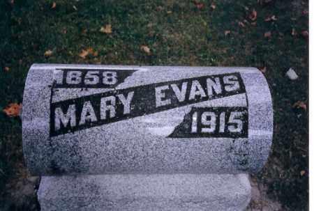 EVANS, MARY - Champaign County, Ohio   MARY EVANS - Ohio Gravestone Photos