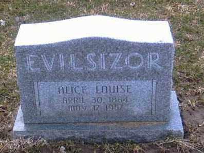 EVILSIZOR, ALICE LOUISE - Champaign County, Ohio | ALICE LOUISE EVILSIZOR - Ohio Gravestone Photos