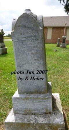 EVILSIZOR, NANCY - Champaign County, Ohio   NANCY EVILSIZOR - Ohio Gravestone Photos
