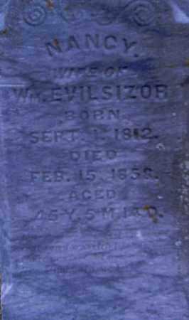 ALLISON EVILSIZOR, FRANCES JANE - Champaign County, Ohio | FRANCES JANE ALLISON EVILSIZOR - Ohio Gravestone Photos