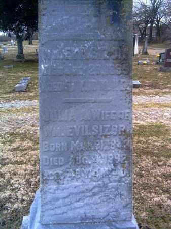 EVILSIZOR, JULIA A. - Champaign County, Ohio   JULIA A. EVILSIZOR - Ohio Gravestone Photos