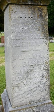 EVILSIZOR, WILLIAM - Champaign County, Ohio | WILLIAM EVILSIZOR - Ohio Gravestone Photos