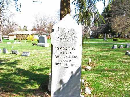 FOX, AMOS - Champaign County, Ohio   AMOS FOX - Ohio Gravestone Photos