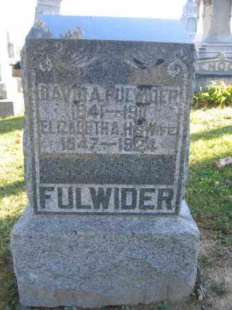 FULWIDER, ELIZABETH A. - Champaign County, Ohio | ELIZABETH A. FULWIDER - Ohio Gravestone Photos