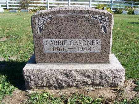GARDNER, CARRIE - Champaign County, Ohio   CARRIE GARDNER - Ohio Gravestone Photos