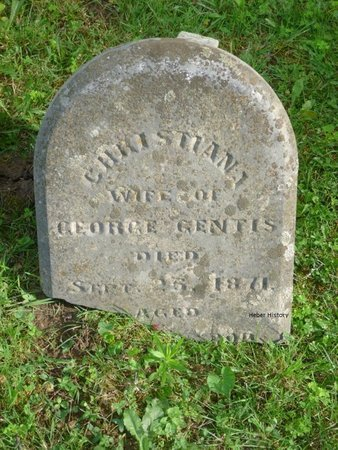 GENTIS, CHRISTIANA - Champaign County, Ohio | CHRISTIANA GENTIS - Ohio Gravestone Photos
