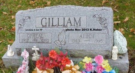 ADKINS GILLIAM, ALICE LAURA - Champaign County, Ohio | ALICE LAURA ADKINS GILLIAM - Ohio Gravestone Photos