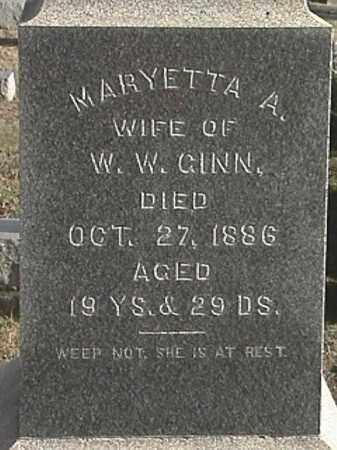 JENKINS GINN, MARYETTA A. - Champaign County, Ohio   MARYETTA A. JENKINS GINN - Ohio Gravestone Photos