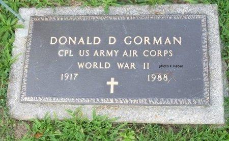 GORMAN, DONALD DAVIS - Champaign County, Ohio   DONALD DAVIS GORMAN - Ohio Gravestone Photos