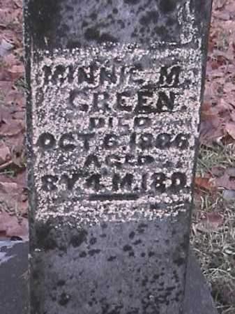 GREEN, MINNIE M - Champaign County, Ohio   MINNIE M GREEN - Ohio Gravestone Photos