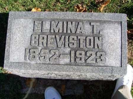 GREVISTON, ELMINA T. - Champaign County, Ohio | ELMINA T. GREVISTON - Ohio Gravestone Photos