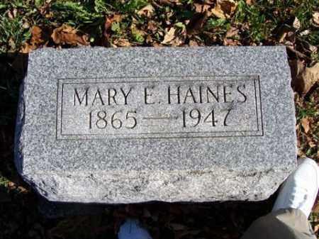HAINES, MARY E - Champaign County, Ohio   MARY E HAINES - Ohio Gravestone Photos