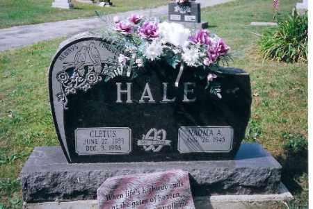 HALE, CLETUS - Champaign County, Ohio | CLETUS HALE - Ohio Gravestone Photos