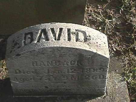 HANBACK, DAVID H. - Champaign County, Ohio | DAVID H. HANBACK - Ohio Gravestone Photos