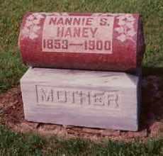 HANEY, NANNIE S. CHAPLIN - Champaign County, Ohio   NANNIE S. CHAPLIN HANEY - Ohio Gravestone Photos